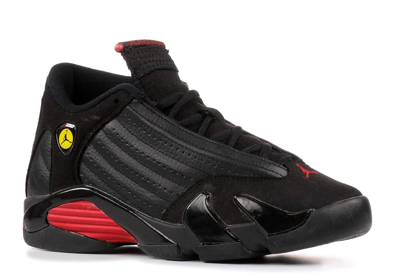 quality design d56ec 86f1c Amazon.com   Jordan Nike Air 14 Retro (GS) Big Kids Basketball Shoes   312091-010  Black Varsity Red-Black Boys Shoes 312091-010-4   Basketball