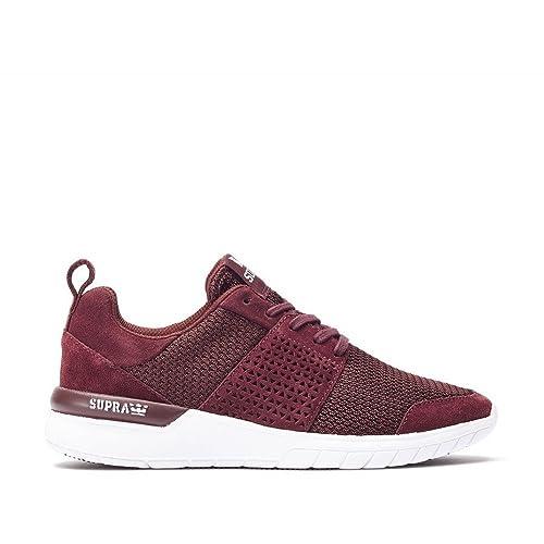 Supra Scissor - Zapatillas de Running de Material Sintético para Mujer Bugundy/White: Amazon.es: Zapatos y complementos
