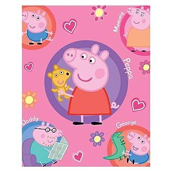 Coperta Peppa Pig.Plaid Peppa Pig Coperta In Pile 120x150cm Famiglia Pig