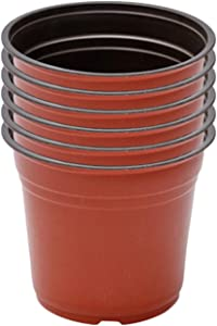 WUHNGD 6Pcs Plastic Nursery Pots,8 Inch Plant Pots, Flower Plant Container Seed Starting Pot
