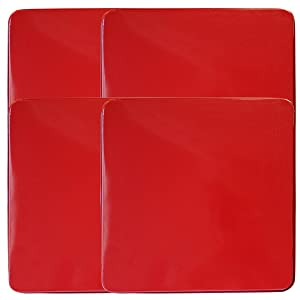 Reston LloydSquare Gas Stove Burner Cover Set, Set of 4, Red