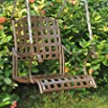 International Caravan Santa Fe Single Seat Wrought Iron Patio Swing from International Caravan Inc
