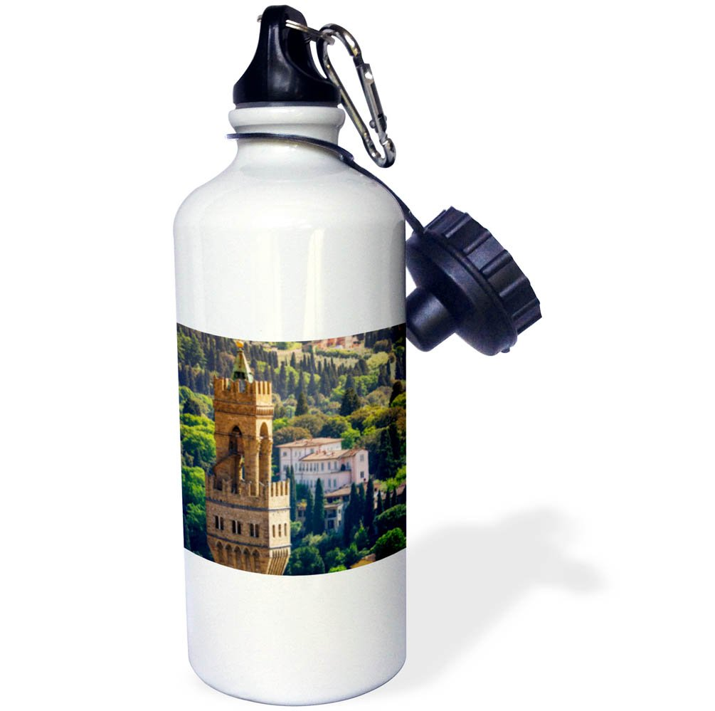 3dRose Danita Delimont - Cities - Bell tower and houses, Florence, Tuscany, Italy - 21 oz Sports Water Bottle (wb_277637_1)
