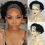 Pixie Cut Wig Human Hair Headband Wigs for Black Women 180% Density Glueless Human Hair Wigs Short Curly 10A Brazilian Virgin
