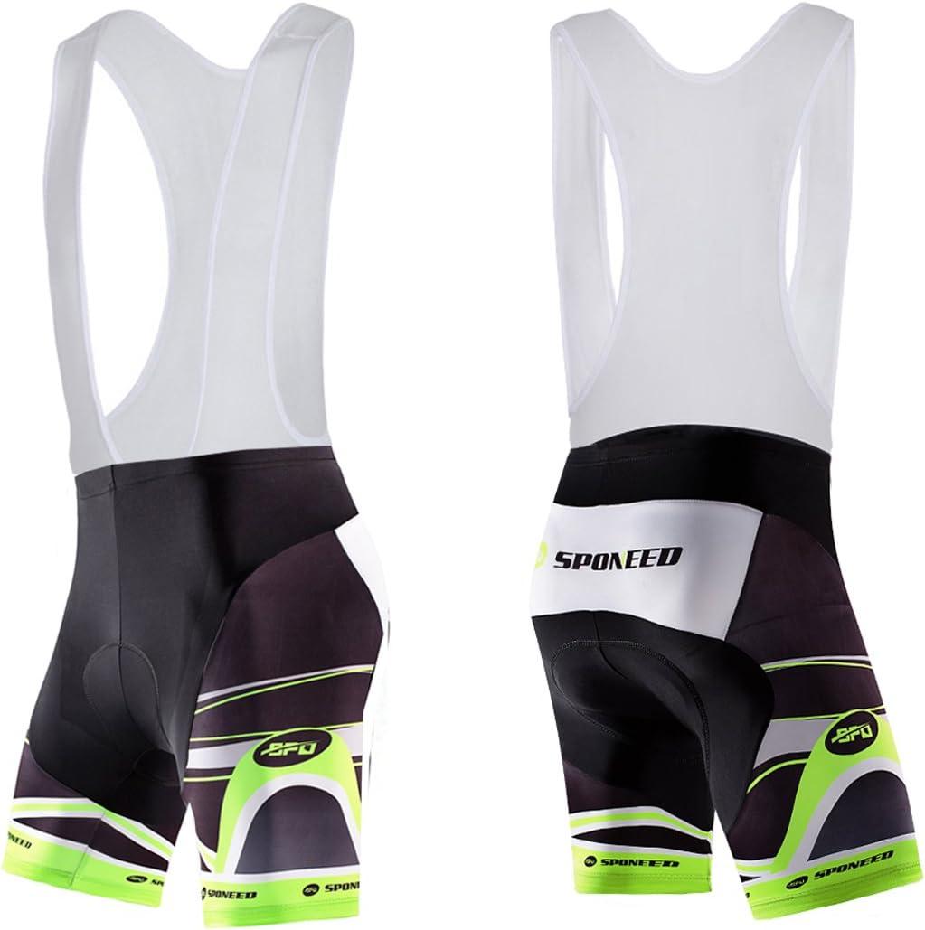 sponeed Mens Shorts Bib and Jersey Cycling Kits Set Road Bike Outdoor Riding Sportswear