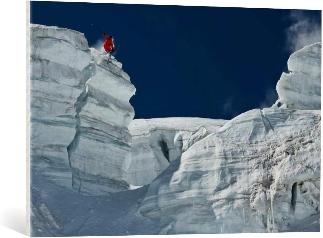Kunst für Alle Cuadro en Lienzo: Tristan Shu Cliff Jumping - Impresión artística, Lienzo en Bastidor, 90x60 cm