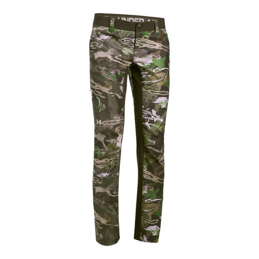 Under Armour Women's Fletching Pant,Ridge Reaper Camo Fo /Metallic Beige, 2 by Under Armour