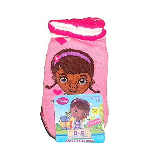 Disney Doc McStuffins Toddler 3-Pairs Girls Socks (Size ...