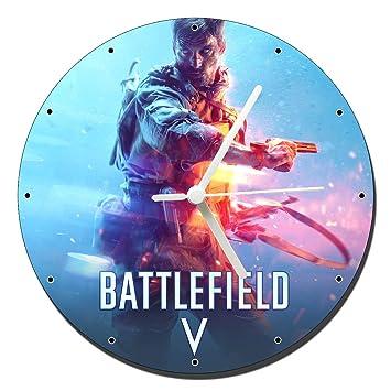 V Battlefield Wall Reloj Mastazas Pared Clock esHogar De 20cmAmazon mwPvNny08O