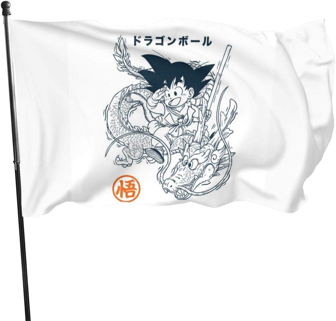 N/ Banderas de poliéster con Bandera Go-KU y Shen-Ron, 3 x 5 ...