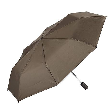 EZPELETA Paraguas Plegable antiviento de Mujer, Abre-Cierra automático con puño Recto. Tejido