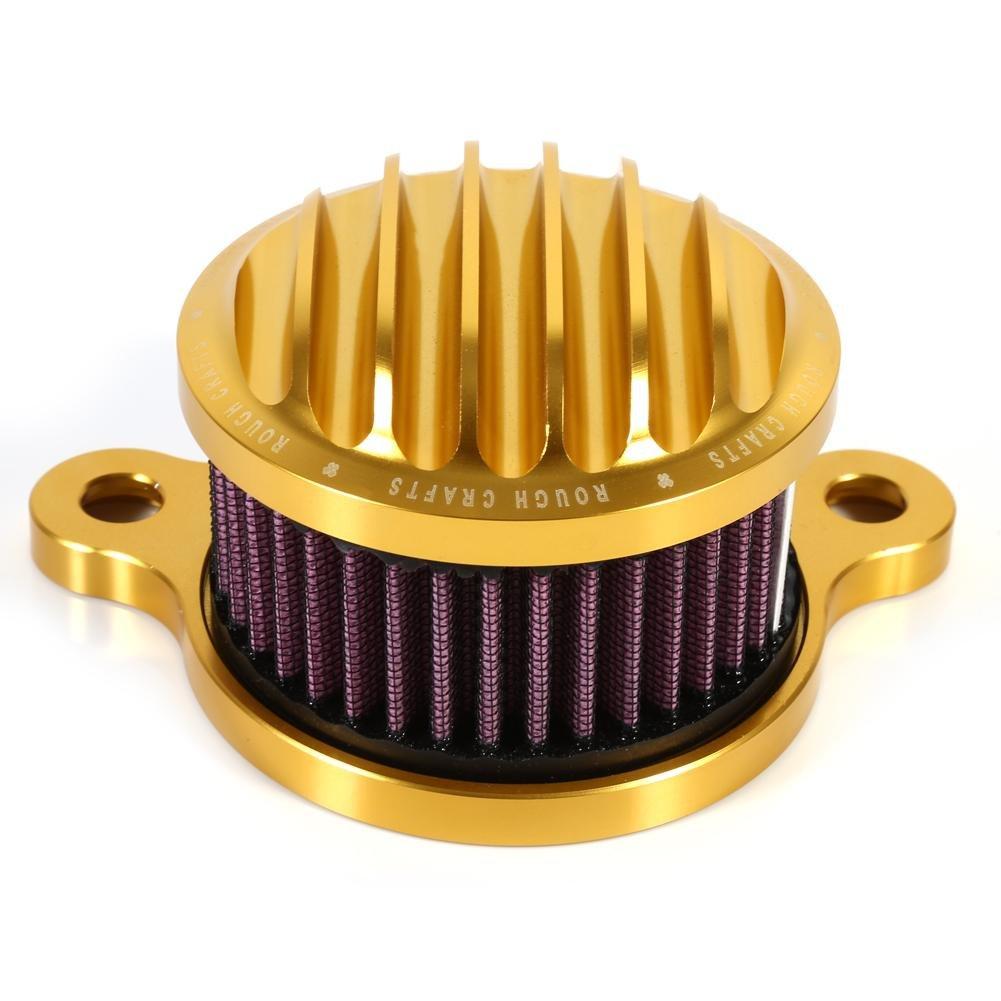 Oro Kit de sistema de filtro de admisi/ón de filtro de aire de la motocicleta para Harle y Sportster XL883 XL1200 2004-2015