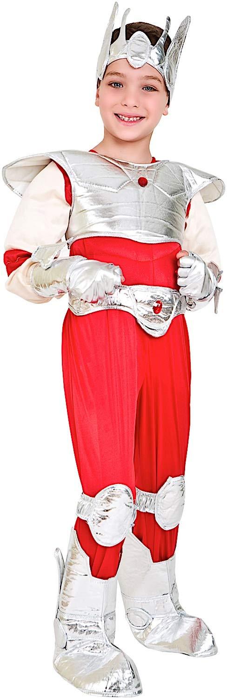Costume di Carnevale da Cavaliere argentoo Vestito per Ragazzo Bambino 7-10 Anni Travestimento Veneziano Halloween Cosplay Festa Party 4624 Taglia 8 M