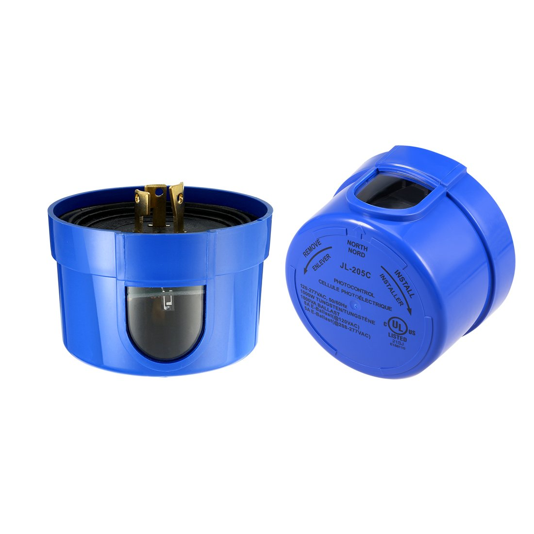 uxcell 2Pcs Photocell Sensor, IP65 Waterproof Automatic Auto On Off Photocell Street Light Sensor Switch