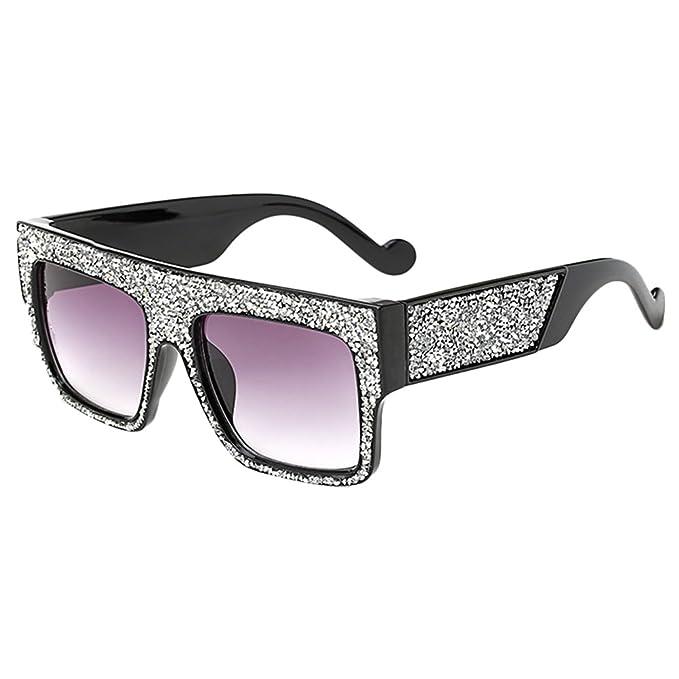 Zhhlaixing Calidad Unisex Sunglasses Marco Cuadrado Grande ...