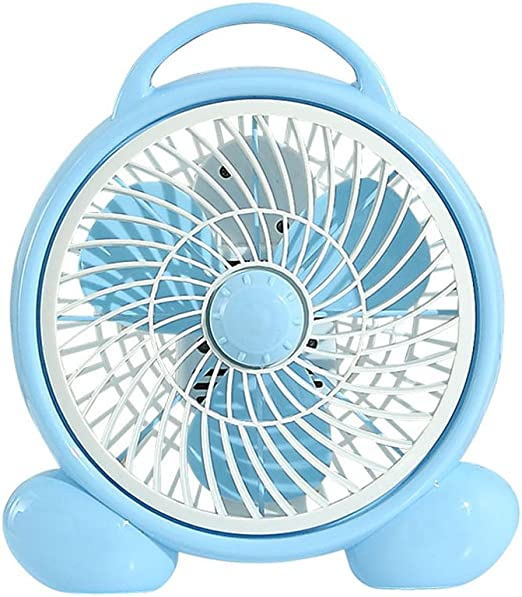 Color : Blue Hanging Neck Mini Fan USB Portable Office Dormitory Fan