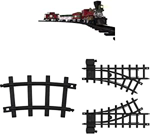 Lionel North Pole Central Battery-Powered Train Set with Remote + Inner Loop Track Expansion Pack