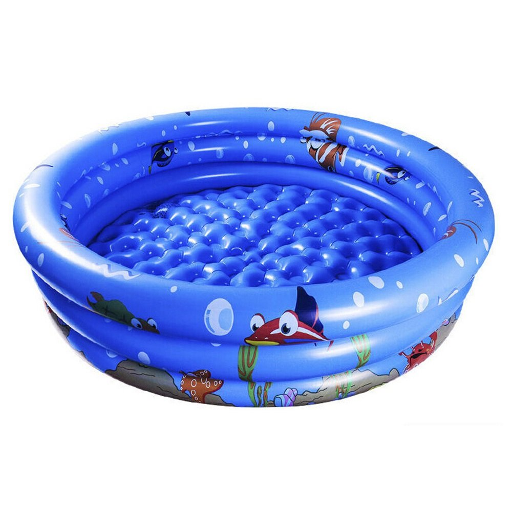 Children's Inflatable Baby Toy Bathing Pool Material: PVC Size: Small: 9530cm, Medium: 12030cm, Large: 15030cm Bathtub (Color : B)