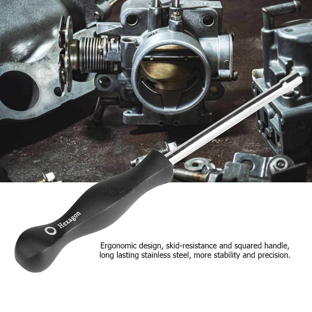 KIMISS 8 Carburatore Regolazione del cacciavite Strumento di taratura del carburatore Per un motore a carburatore a 2 tempi comune Testa piccola Pac Man