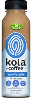 product image for Koia Coffee - Ready To Drink Plant Based Coffee Drink (12 oz) - Vanilla Latte - Plant Protein, MCT Oil, Low Net Carbs, Dairy Free, Sugar Free, Non GMO