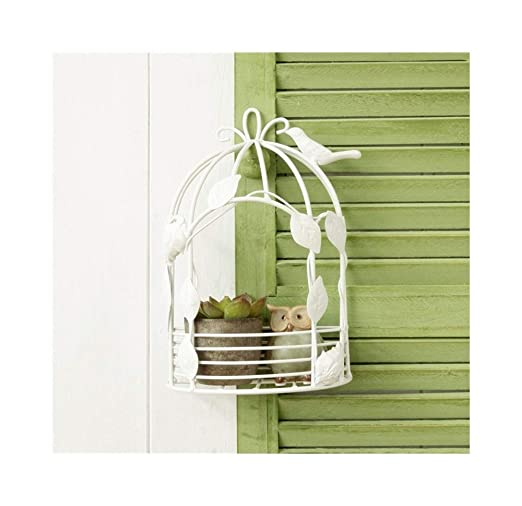 MDBYMX Soporte para plantas Soporte de flores de pared de jaula de ...