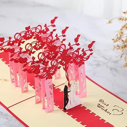 Anniversario Matrimonio Amazon.3d Pop Up Anniversario Matrimonio Card Per Moglie Madre Carta Di
