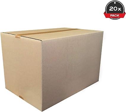 Cajeando | Pack de 20 Cajas de Cartón de Canal Simple | Tamaño 59 x 34 x 32,8 cm | Color Marrón | Mudanza y Almacenaje | Fabricadas en España: Amazon.es: Oficina y papelería