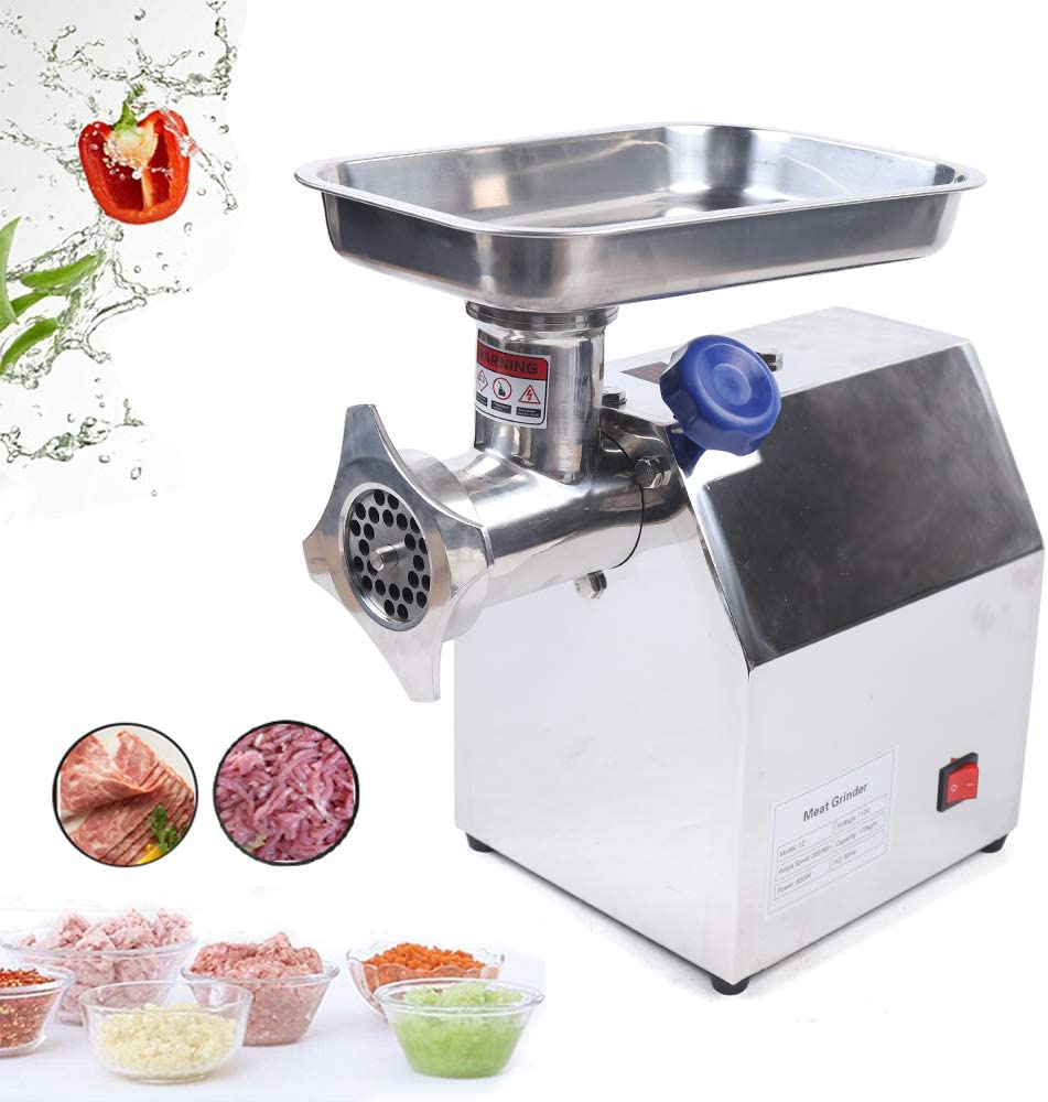 Ethedeal Meat Grinder - 110V 850W Multi-Function Durable Meat Grinder for Vegetable & Meat Fillings - Commercial or Home Use