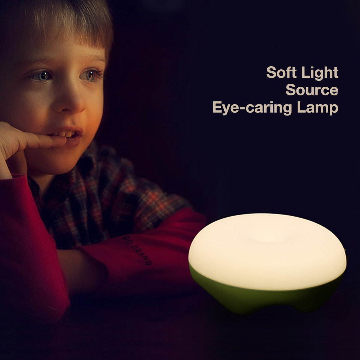 Night Lights for Kids, Poweradd Baby LED Table Lamp, Wireless Gesture Sensor Bedside Table Lamp, Eye-caring 2900K Baby Room Lamp, 4-100 Hours Playing Time, Memory Function, Dimmable LED USB Rechargeable