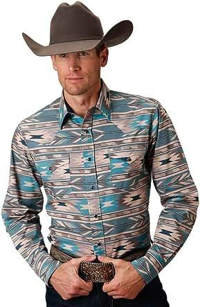Details about  /Roper Western Shirt Womens Aztec Long Sleeve Blue 03-050-0067-0770 BU