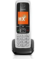 Gigaset C430HX schnurloses Telefon (IP-Telefon Fritzbox kompatibel, VOIP DECT Telefon, klassisches Mobilteil mit TFT-Farbdisplay) schwarz-silber
