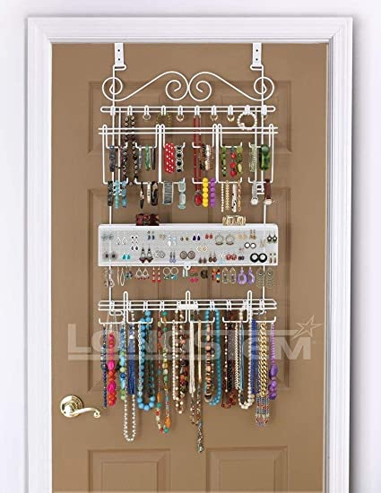 Beau Longstem Organizers Over Door/Wall Jewelry Organizer, Rated Best Unique  Patented Product,