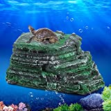 Turtle Climbing Platform, Reptiles Terrace Stone Pier Decor for Aquarium Fish Tank