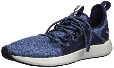 cheaper 8a4c9 8c2ce PUMA Men's NRGY Neko Knit Sneaker, Peacoat-Bonnie Blue White, 14 M US
