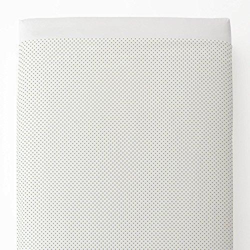 Sage Pin Dot - Carousel Designs Sage Pin Dot Toddler Bed Sheet Top Flat