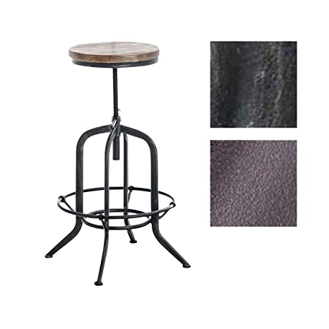 Marvelous Amazon Com Articial Industrial Bar Stool With Wood Seat And Evergreenethics Interior Chair Design Evergreenethicsorg