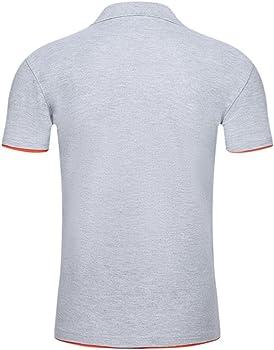 Cinnamou Camisetas Hombre Manga Corta Verano Moda Color de Polos ...