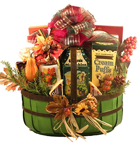 A Celebration of Fall, Fall Gift Basket With Colors And Flavors of Fall (Small), 6 Pounds
