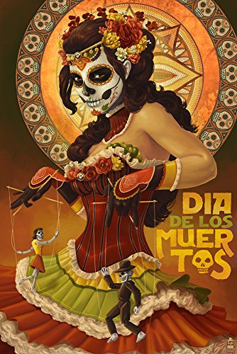 Dia De Los Muertos Marionettes - Day of the Dead (9x12 for sale  Delivered anywhere in USA