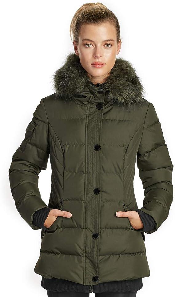 Noize Aspen Storm Parka Winter Insulated Faux Fur Hood Jacket
