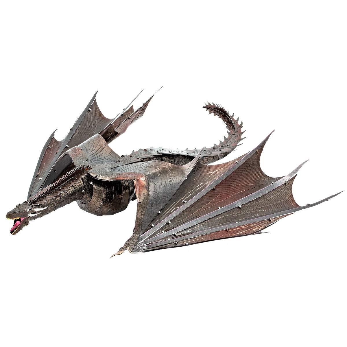 Fascinations Metal Earth ICONX Game of Thrones Drogon 3D Metal Model Kit