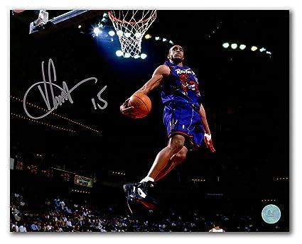 Vince Carter Toronto Raptors Autographed Signature Rookie Jersey Windmill  Dunk 11x14 Photo - COA Included b49519e4a