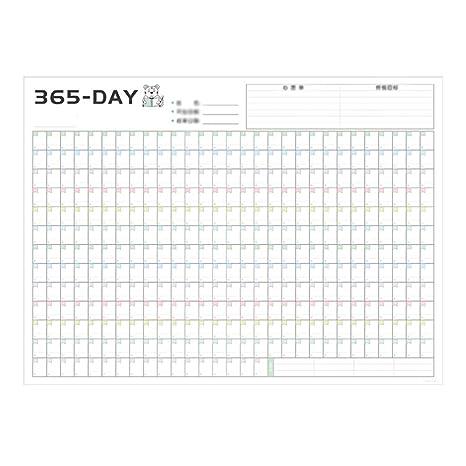Planificadores diarios Plan de cuenta regresiva de 365 días ...