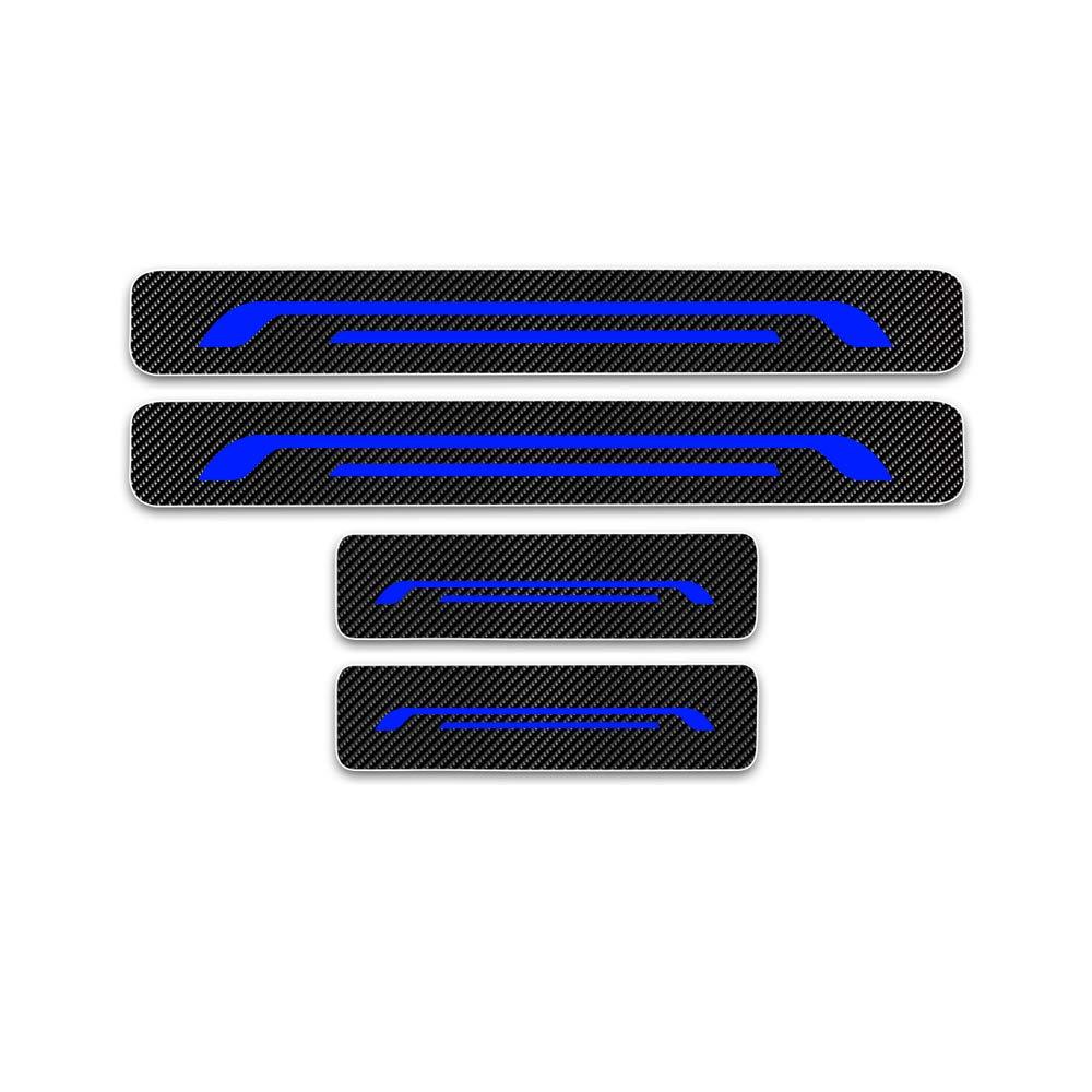 Cobear Einstiegsleiste Schutz Aufkleber Reflektierende Lackschutzfolie f/ür Spark Aveo Cruze Malibu Trax Orlando Captiva Volt Einstiegsleisten Wei/ß 4 St/ück