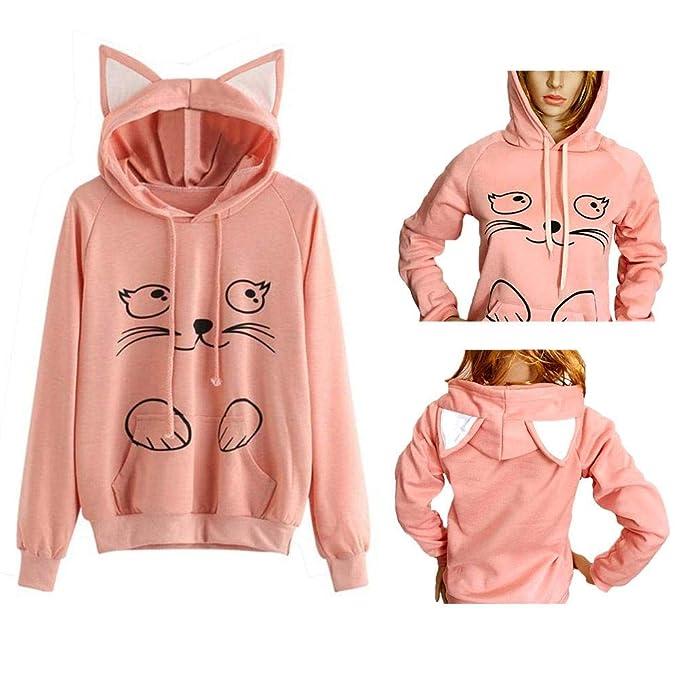 Amazon.com: Sudadera con capucha y suéter suave suelto ...