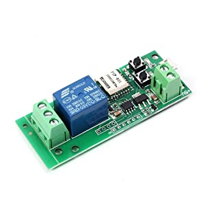 MHCOZY WiFi Wireless Smart Switch Relay Module for Smart Home 5V 5V/12V,Ba applied to access control, turn on PC, garage door (5v)