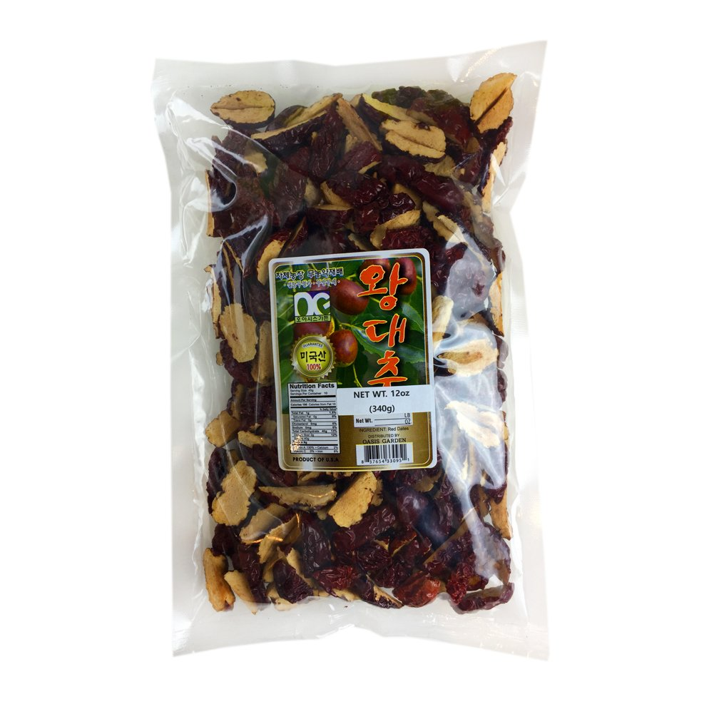 ROM AMERICA 100% Natural Organic Dried Dates Snacks Chips Fruit Jujube Seedless 12 oz 대추 by ROM AMERICA (Image #1)