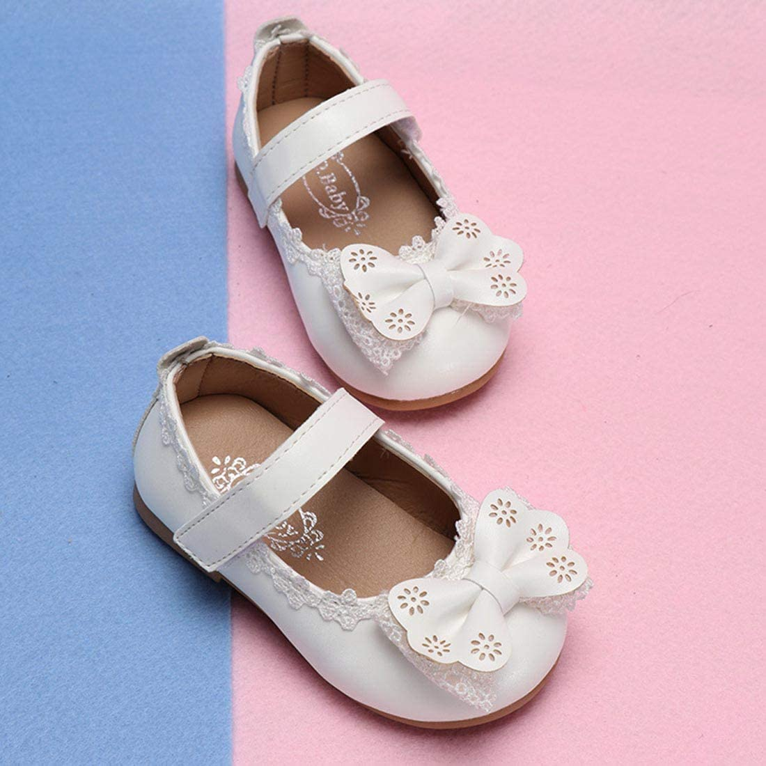 YIBLBOX Baby Girls Bowknot Mary Janes Toddler First Walking Shoes for Party Special Occasion