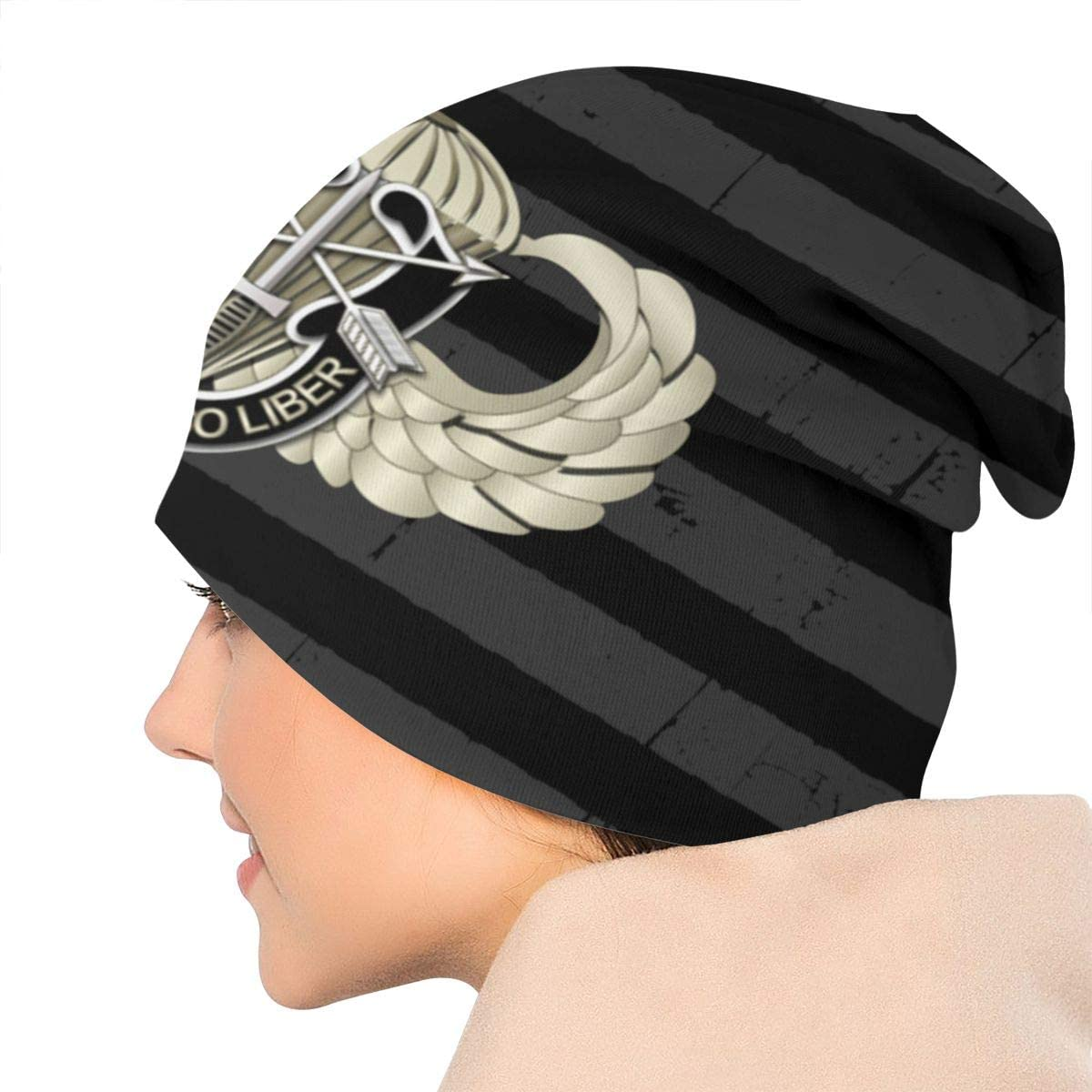 US Special Forces Airborne Badge SF DUI Unisex Warm Hat Knit Hat Skull Cap Beanies Cap
