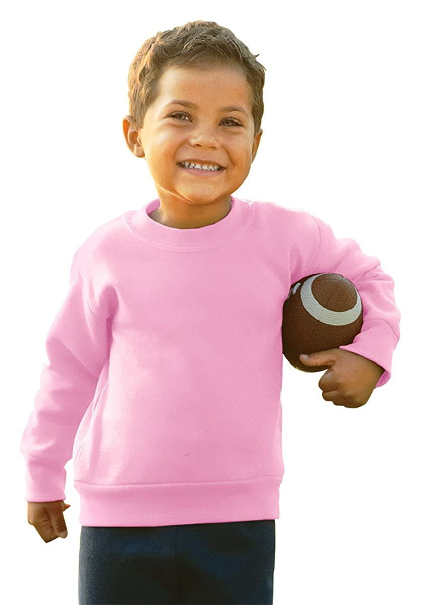 Rabbit Skins 3317 7.5 oz Toddler Sweatshirt,5/6,Pink